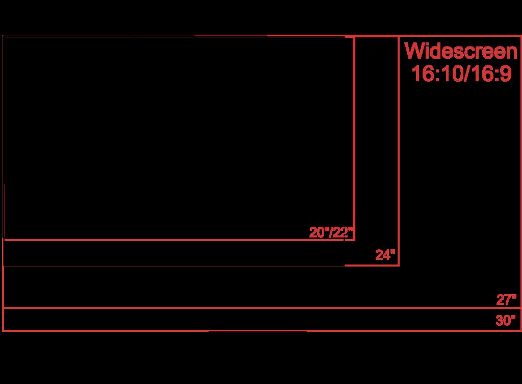 Gaming Monitor - Größen- und Format im Vergleich