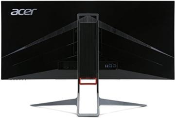 Acer Predator X34 (X34bmiphz) 87 cm (34 Zoll) Curved Monitor (Displayport, HDMI, USB 3.0, UltraWide QHD Auflösung 3,440 x 1,440, 4ms Reaktionszeit, NVIDIA G-Sync, Lautsprecher, EEK C) silber/schwarz - 12