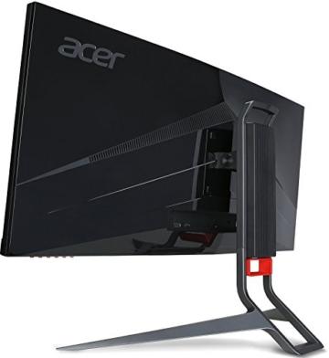 Acer Predator X34 (X34bmiphz) 87 cm (34 Zoll) Curved Monitor (Displayport, HDMI, USB 3.0, UltraWide QHD Auflösung 3,440 x 1,440, 4ms Reaktionszeit, NVIDIA G-Sync, Lautsprecher, EEK C) silber/schwarz - 8