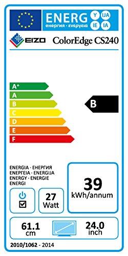 Eizo CS240-BK 61 cm (24 Zoll) Monitor (VGA, DVI, HDMI, 7,7ms Reaktionszeit) schwarz - 2