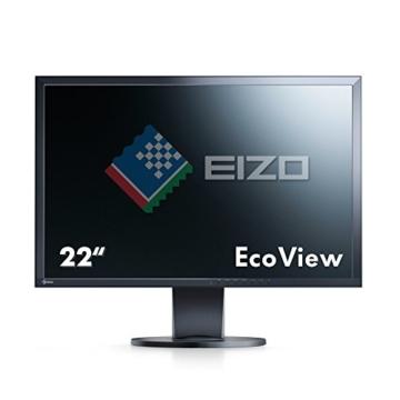 Eizo EV2216WFS3-BK 55,8 cm (22 Zoll) Monitor (VGA, DVI, USB, 5ms Reaktionszeit) schwarz - 2