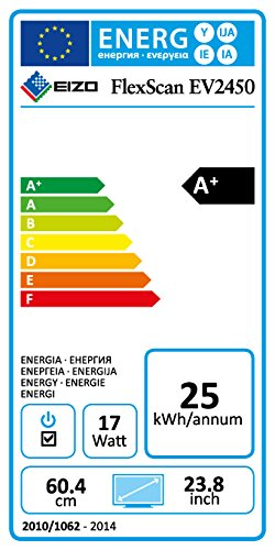 Eizo EV2450-BK 60 cm (23,8 Zoll) Monitor (DisplayPort, DVI-D, HDMI, D-Sub, USB 3.0, 5ms Reaktionszeit) schwarz - 2