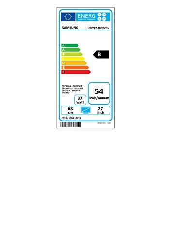 Samsung S27E510C 68,58 cm (27 Zoll) LED Curved Monitor (HDMI, D-Sub, 1.920 x 1.080 Pixel, 60 Hz Wiederholungsfrequenz, 4ms Reaktionszeit) schwarz - 2